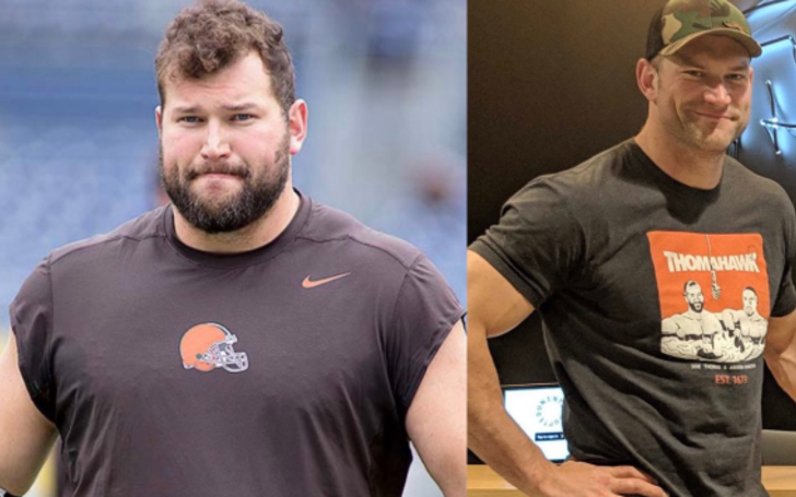 Joe Thomas before and after weight loss diet.