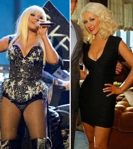 Christina Aguilera's weight loss for the movie Burlesque.
