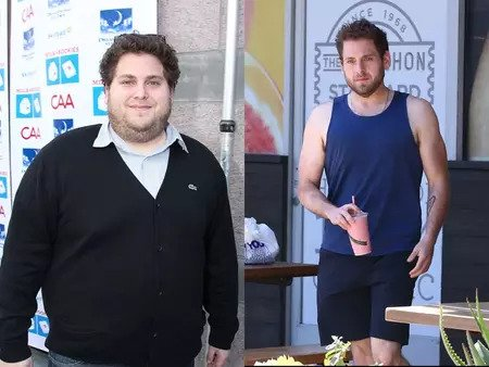 Jonah Hil before and after weight loss.