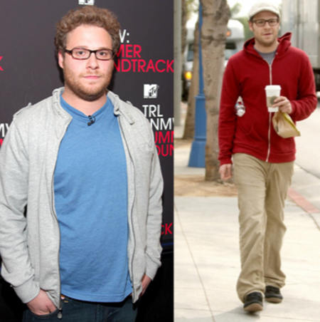 Seth Rogen before and after weight loss.