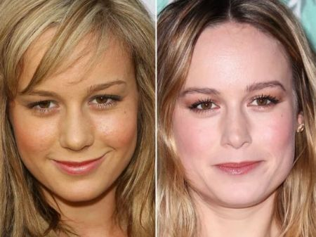 Brie Larson's first plastic surgery was a nose job in 2009.