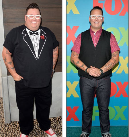 Graham Elliot before and after weight loss.