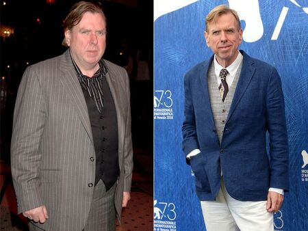 Timothy Spall before and after weight loss.