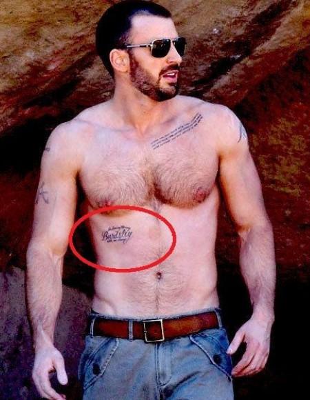 Chris Evans tattoos, in loving memories of bardsley with me always.
