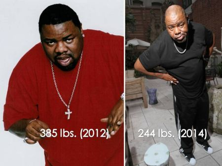 Biz Markie before and after weight loss.