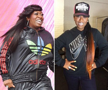 Missy Elliott before and after weight loss.