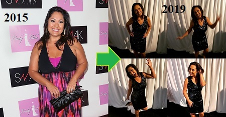 Lynette Romero before and after weight loss.