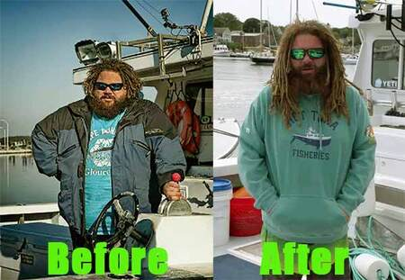 Wicked Tuna TJ Ott before and after weight loss.