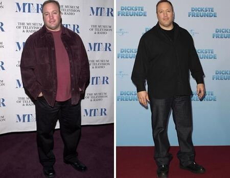 Kevin James before and after weight loss.