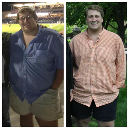 Gabe Newell before and after weight loss in 2016.