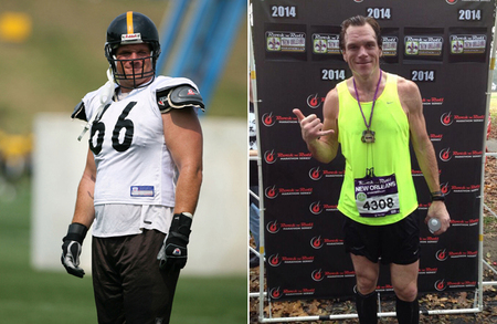 Alan Faneca before and after 100-pound weight loss.