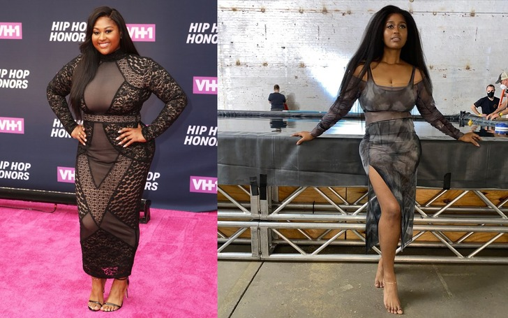 Jazmine Sullivan before and after alleged weight loss surgery.