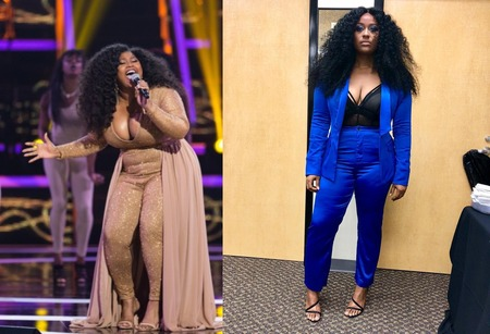 Jazmine Sullivan before and after supposed weight loss surgery.