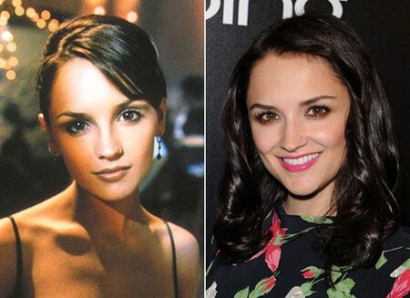 Rachael Leigh Cook before and after alleged plastic surgery.