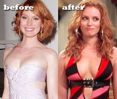 Alicia Witt before and after plastic surgery.