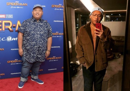 Ned from Spiderman star Jacob Batalon before and after weight loss in 2020.