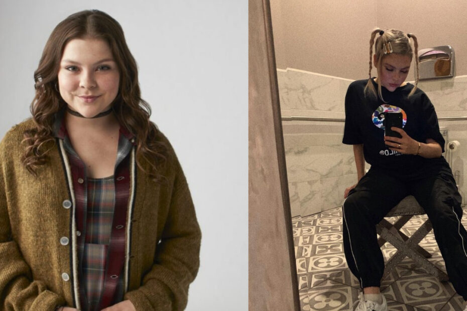Hannah Zeile before and after weight loss.