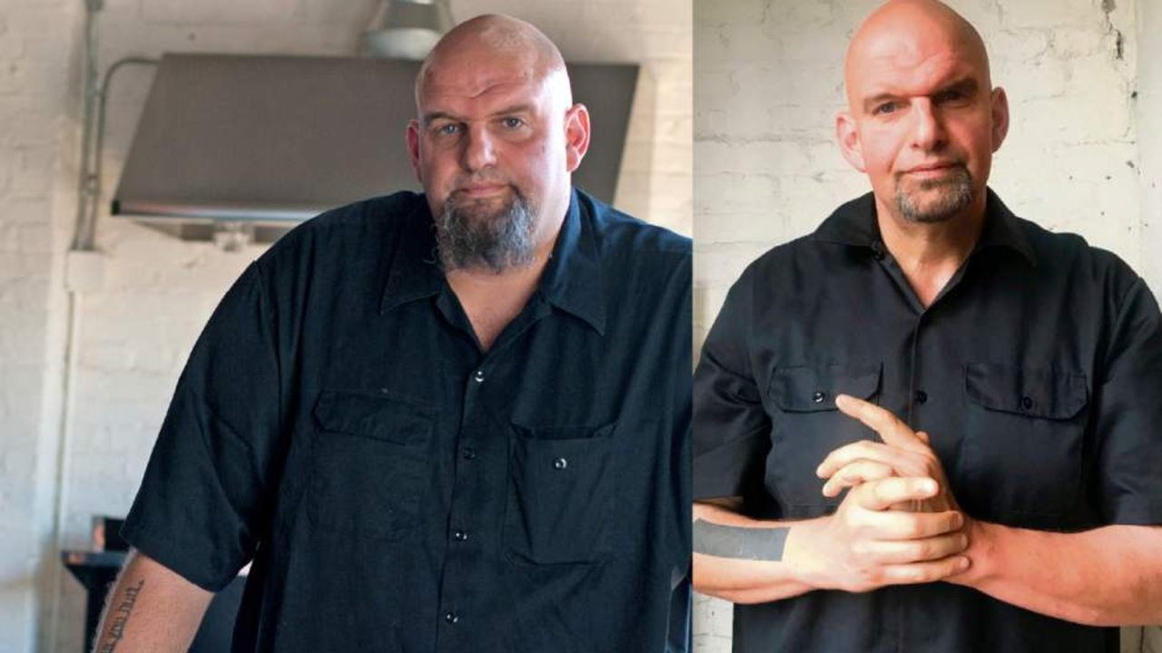John Fetterman before and after weight loss.