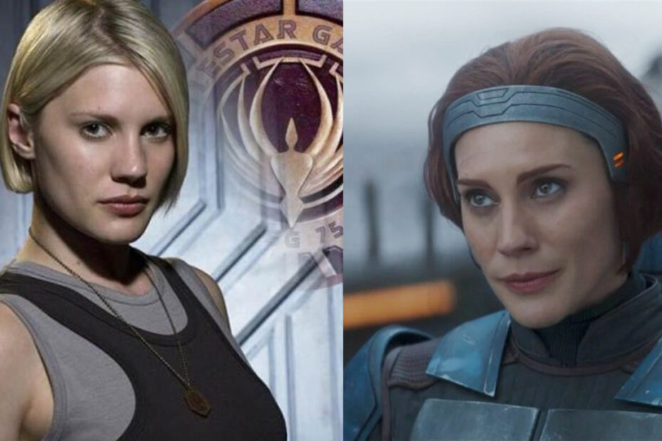 Katee Sackhoff before and after alleged plastic surgery.