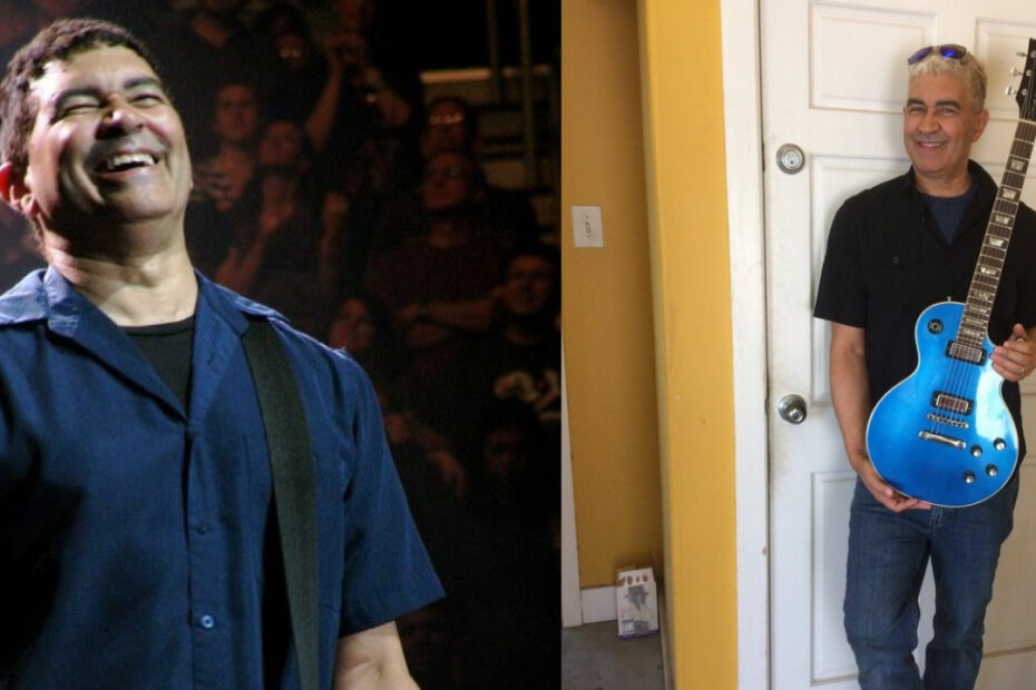 Pat Smear before and after weight loss.