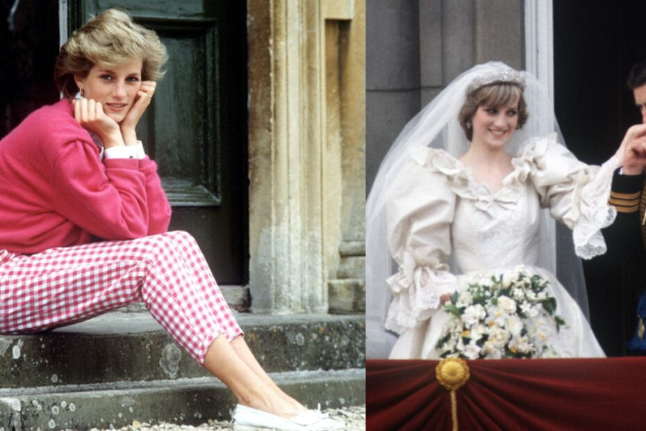 Princess Diana before and after weight loss.