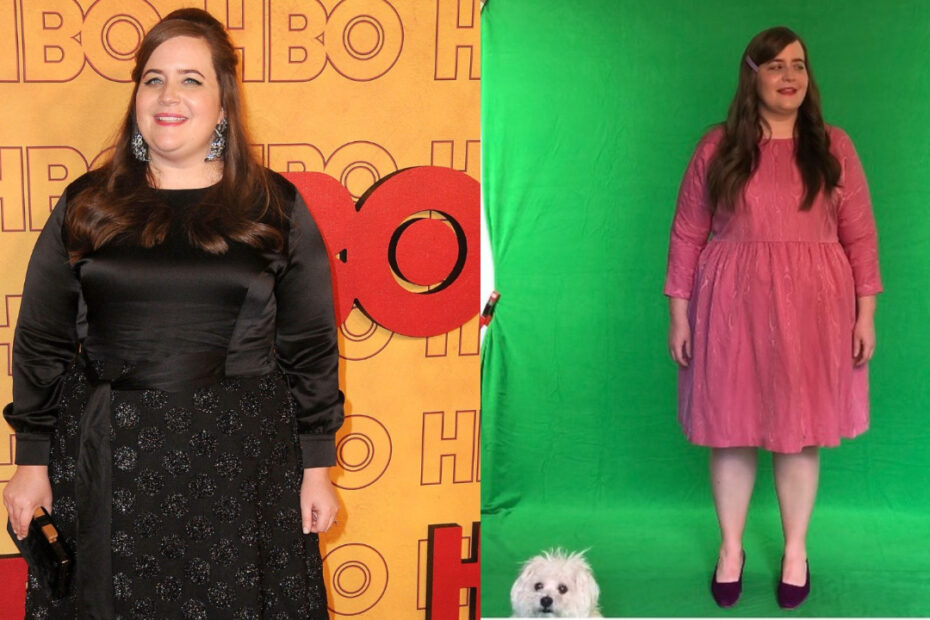 Aidy Bryant before and after weight loss.
