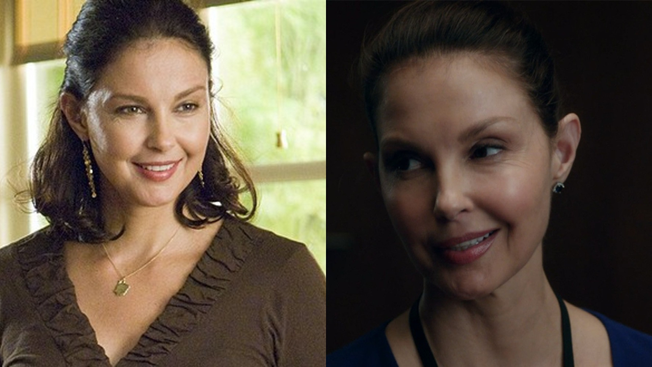 Ashley Judd before and after alleged plastic surgery.