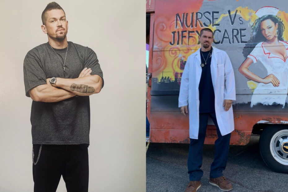 Steve Howey before and after weight loss.