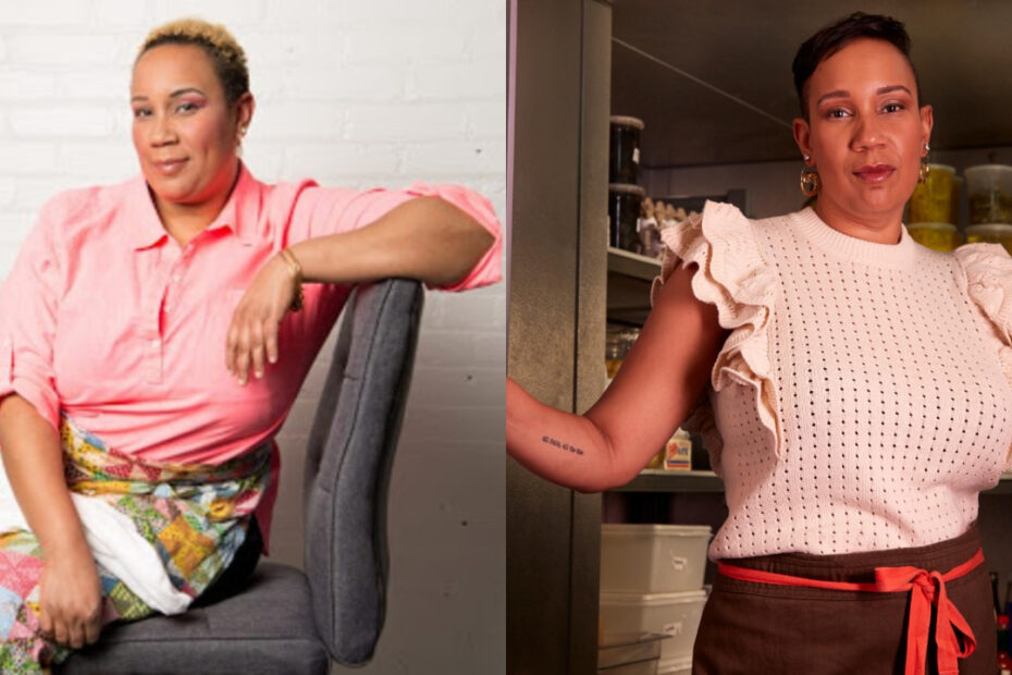 Elle Simone Scott before and after weight loss surgery.