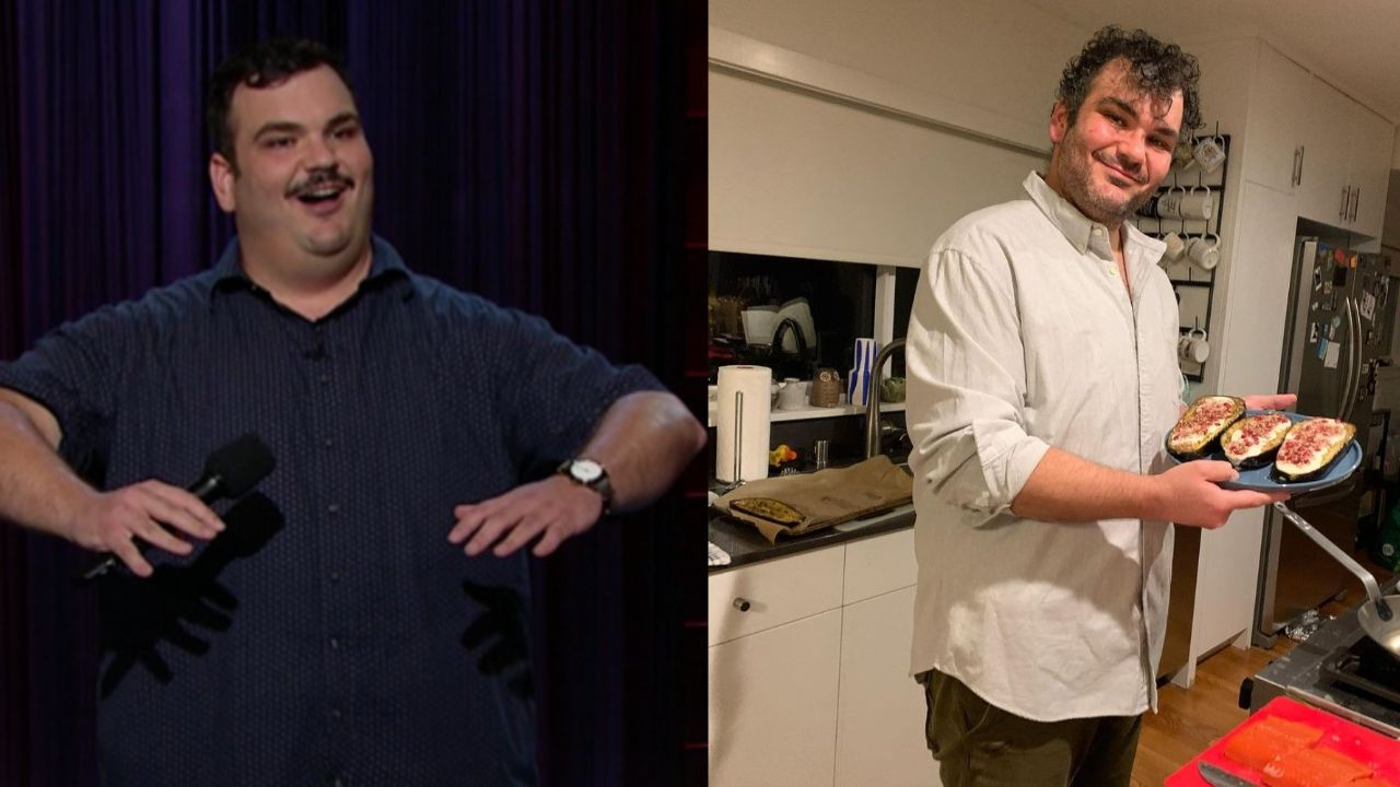 Ian Karmel before and after 120 pounds weight loss in less than a year.