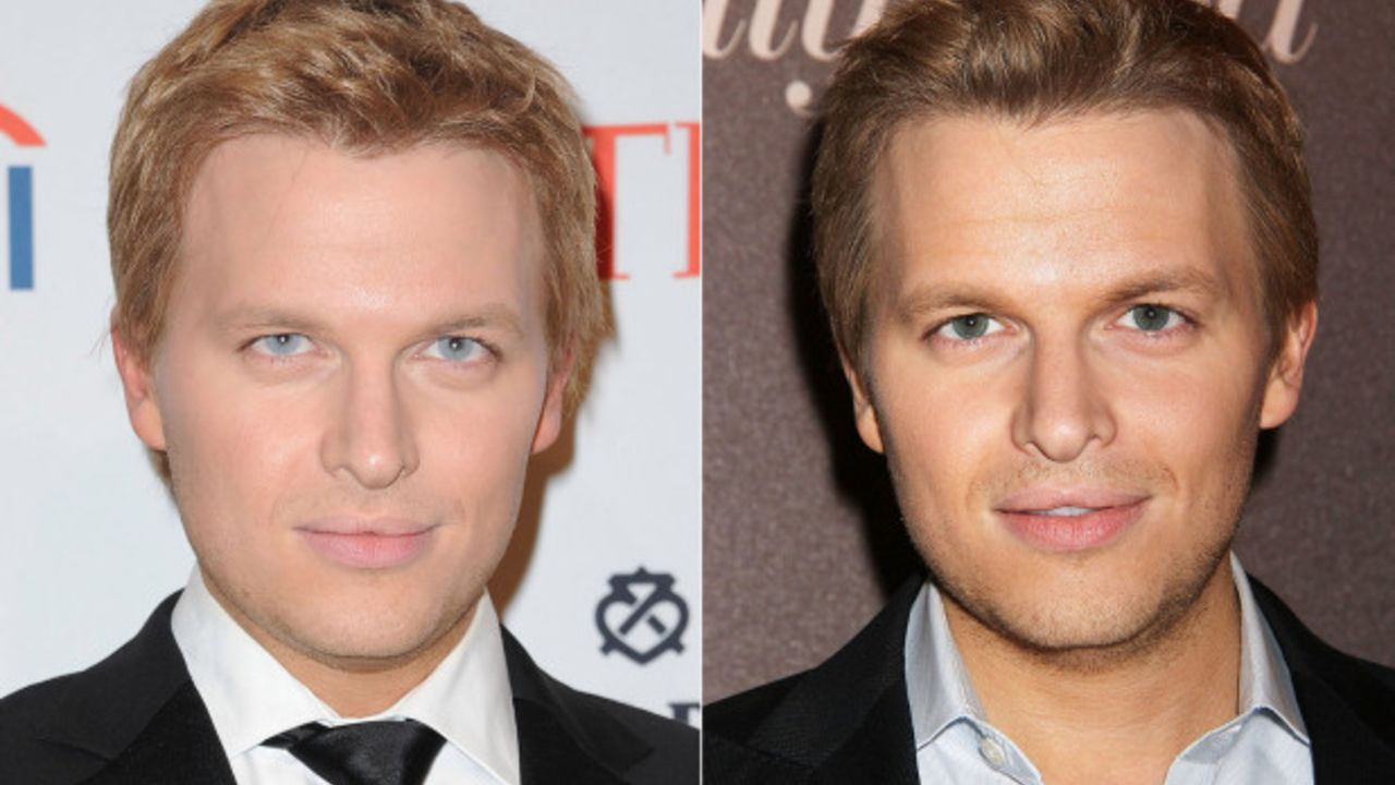 Ronan Farrow's eye color is supposedly fake.
