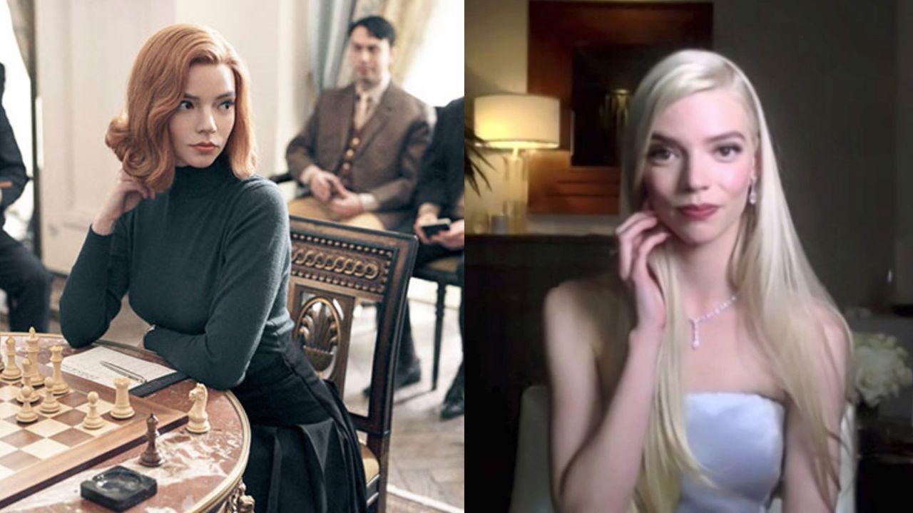 Anya Taylor-Joy before and after weight loss.