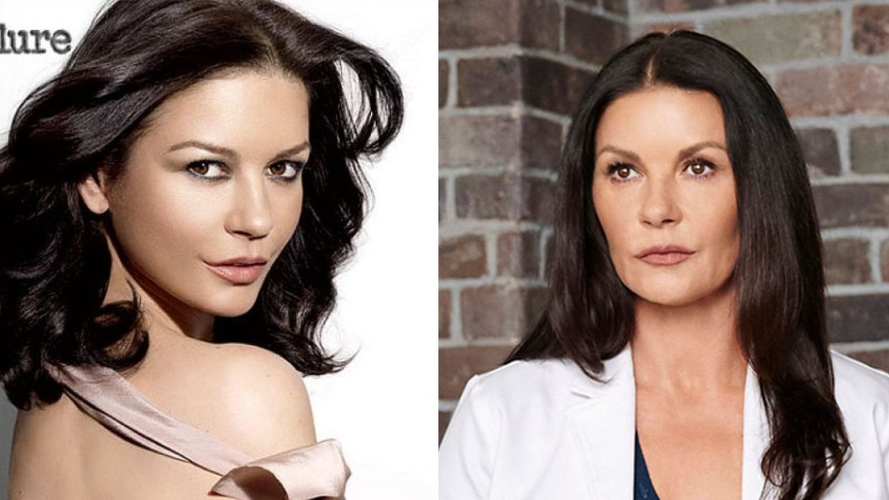 'Prodigal Son' star Catherine Zeta-Jones before and after alleged plastic surgery.