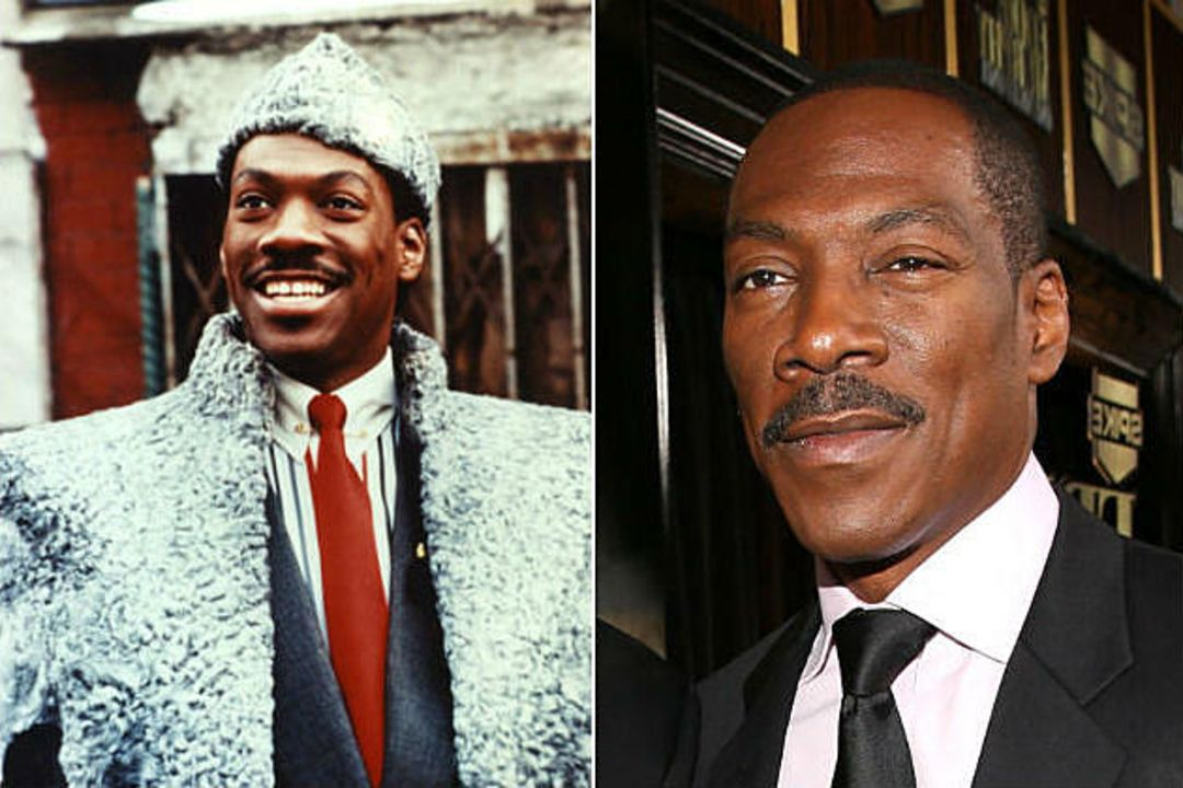 Eddie Murphy before and after alleged plastic surgery.