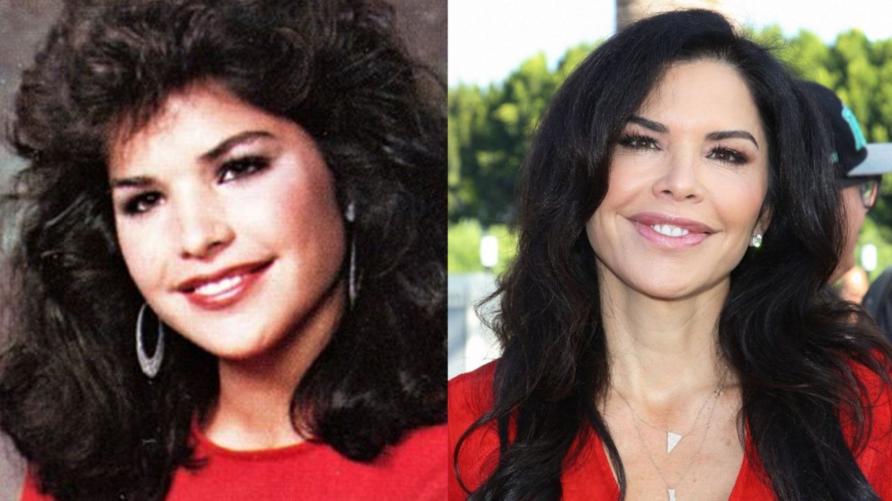 Lauren Sanchez before and after alleged plastic surgery operations.