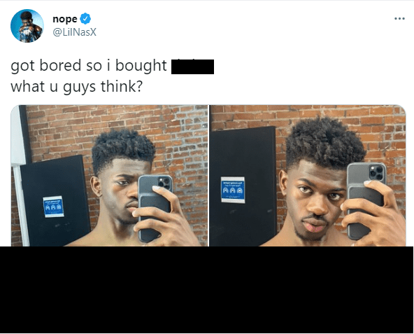 Lil Nas X is the subject of breast implants plastic surgery on Twitter.