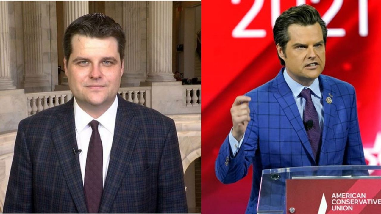 Matt Gaetz before and after weight loss.