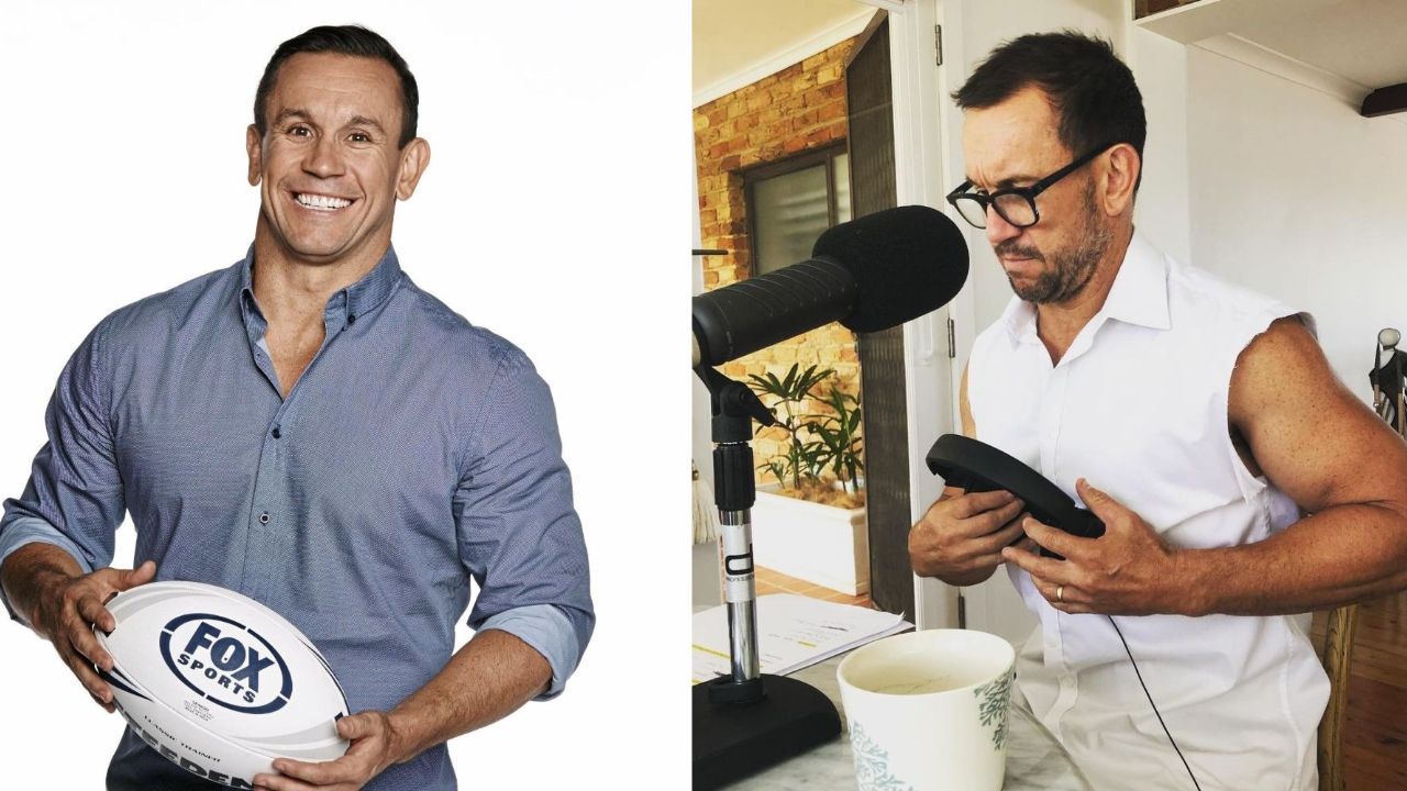 Matty Johns before and after suspected weight loss.