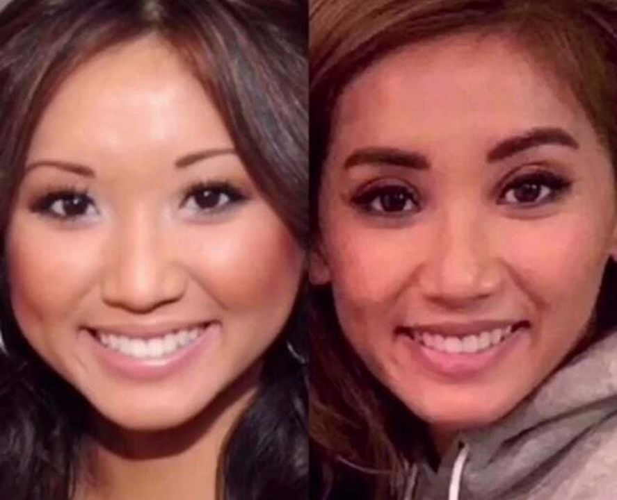 Brenda Song before and after alleged double eyelid plastic surgery.