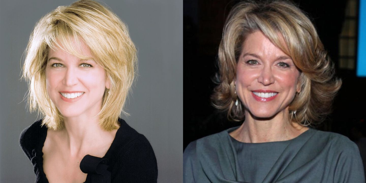 Paula Zahn before and after alleged plastic surgery.
