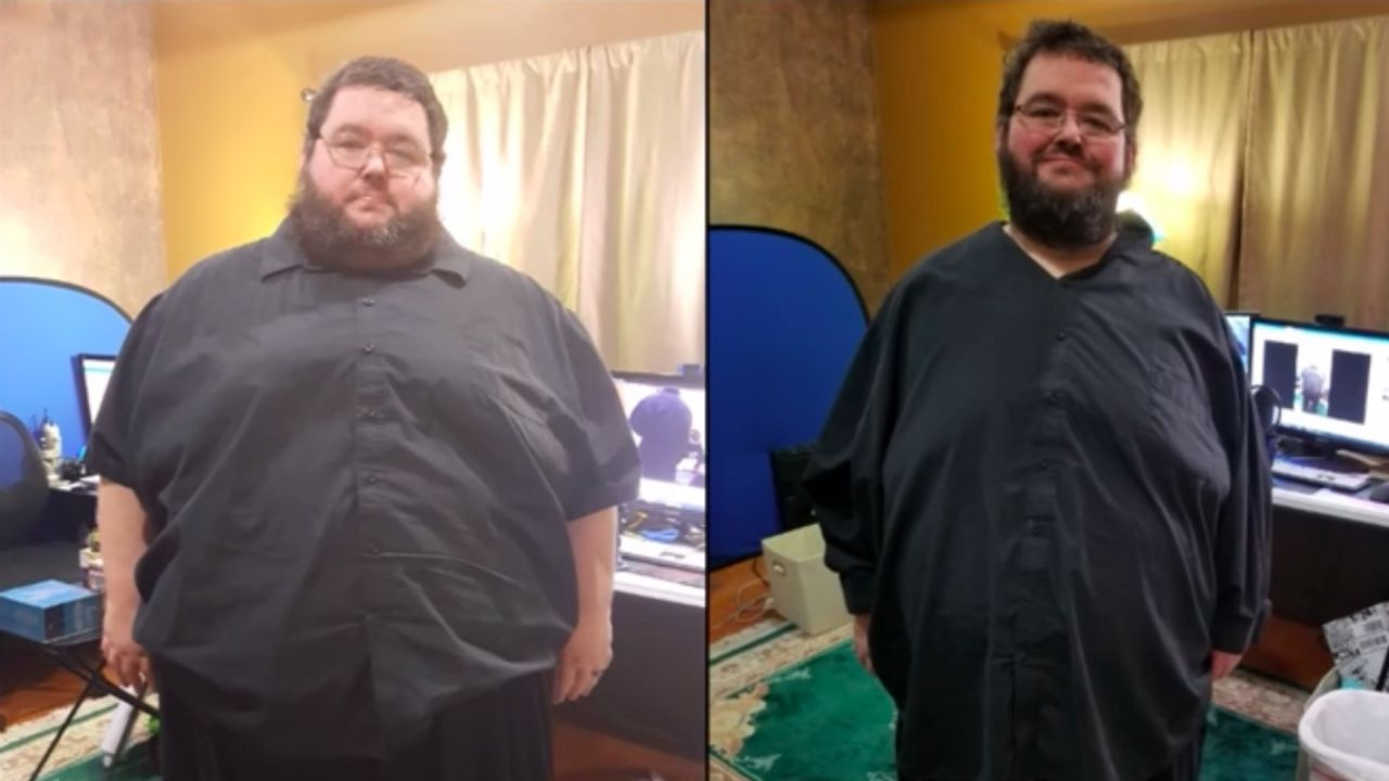 YouTuber Boogie2988 before and after weight loss.