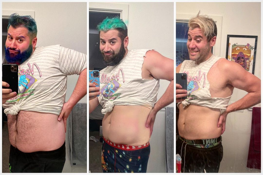 Matt Raub before and after incredible weight loss.