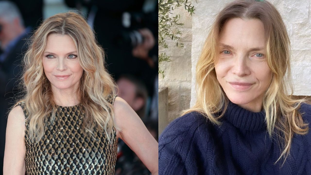 Michelle Pfeiffer before and after alleged plastic surgery.