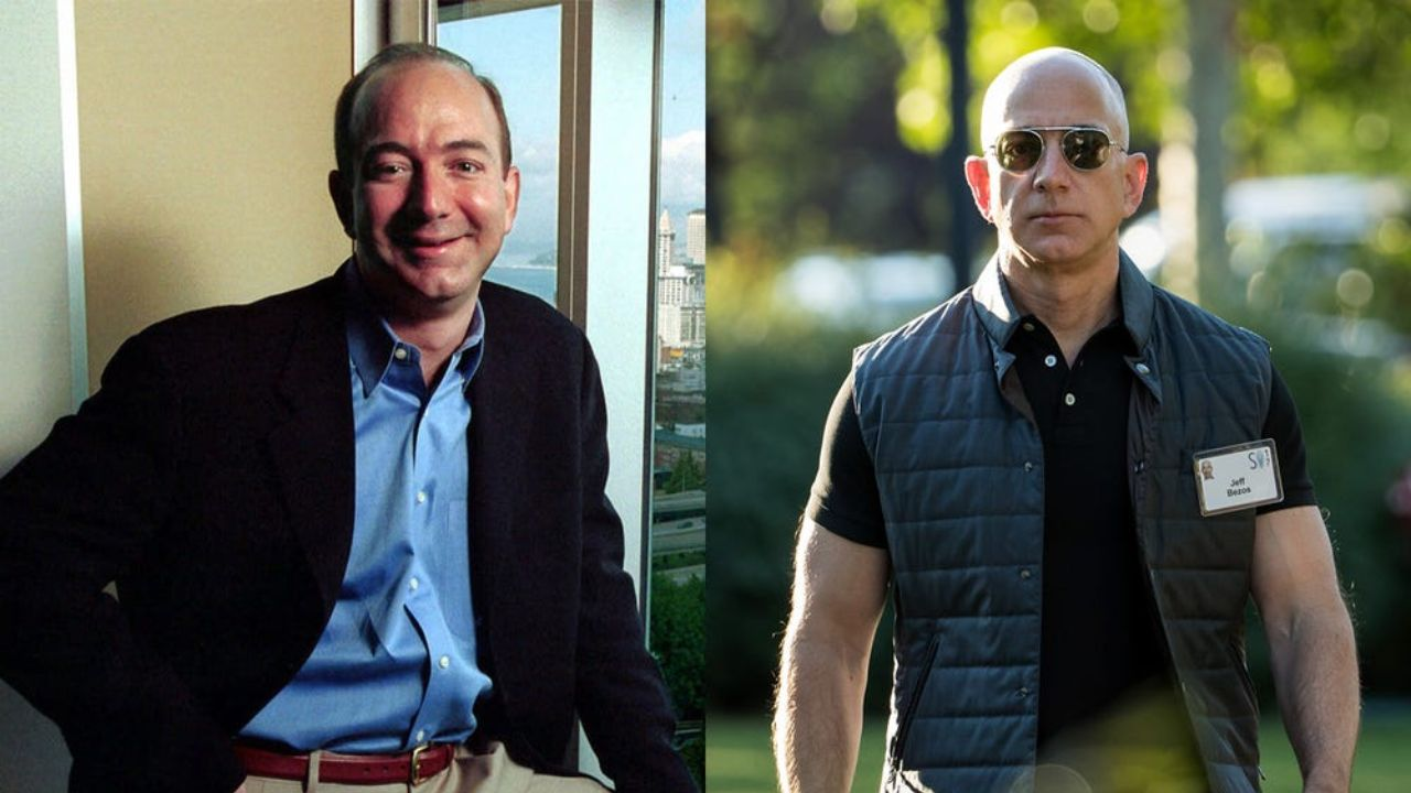 Jeff Bezos before and after plastic surgery.