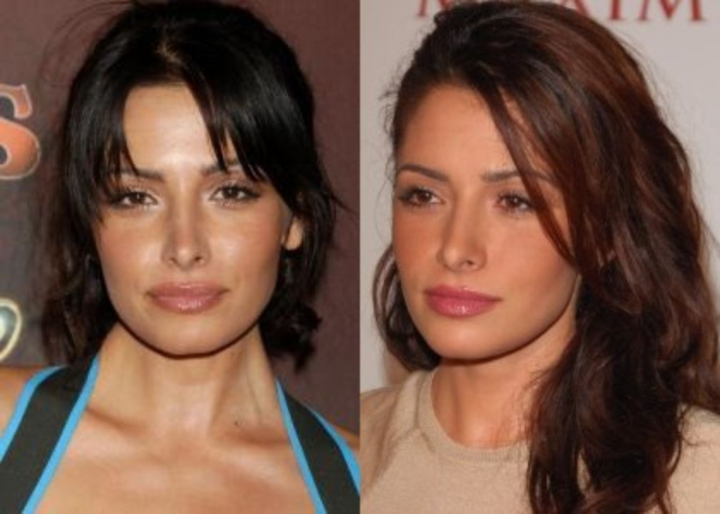 Sarah Shahi before and after plastic surgery, notably a nose job.