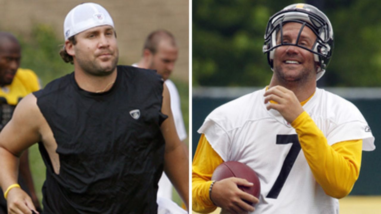 Ben Roethlisberger before and after weight loss.