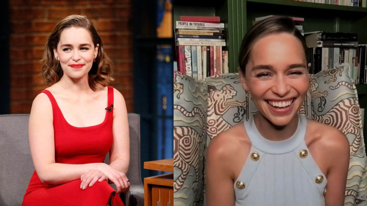 Emilia Clarke before and after weight loss.
