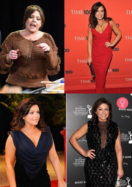 Rachael Ray before and after weight loss over the years.
