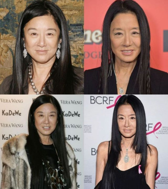Vera Wang before and after alleged plastic surgery.