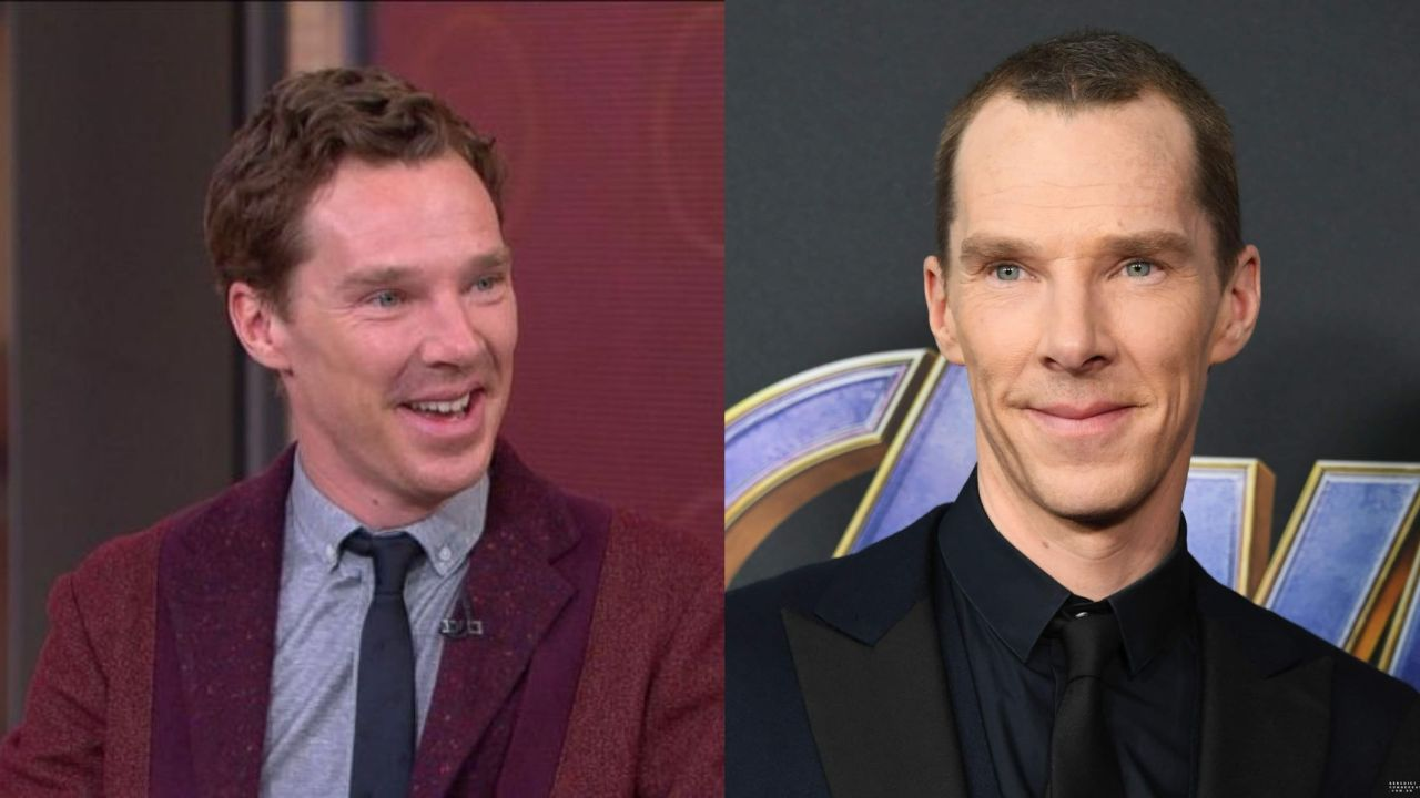 Benedict Cumberbatch before and after 21 pounds weight loss for 'The Courier' (2021).